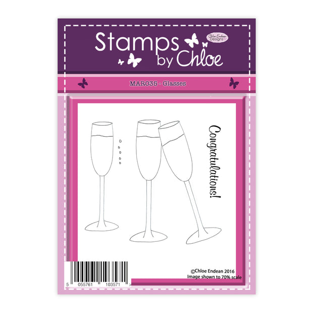 Stamps by Chloe Glasses Clear Stamp