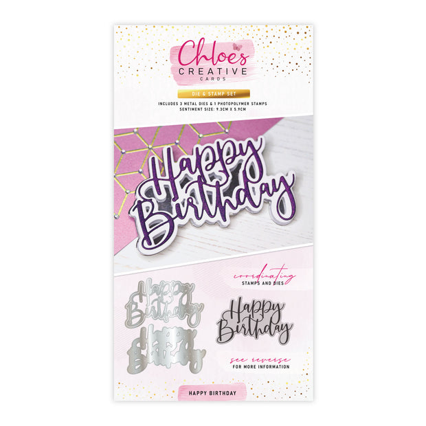 Stamps by Chloe Happy Birthday Stamp and Die Set