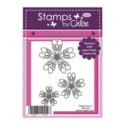 Stamps by Chloe Heart Petal Flower Clear Stamp