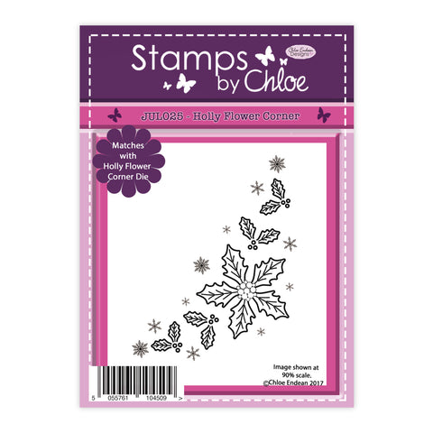 Stamps by Chloe Holly Flower Corner Clear Stamp