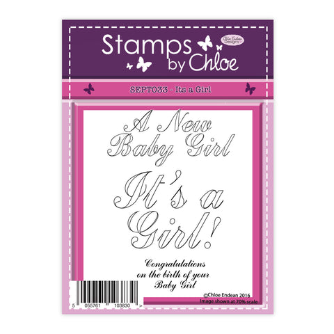 Stamps by Chloe It's a Girl Clear Stamp