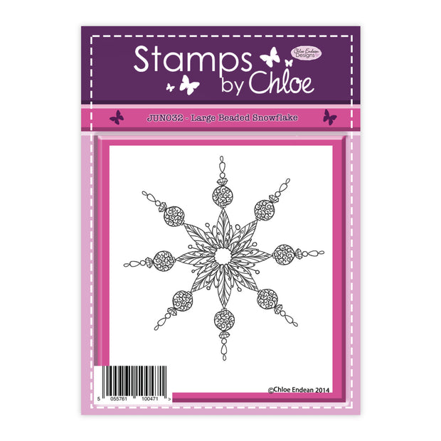 Stamps by Chloe Large Beaded Snowflake Clear Stamp