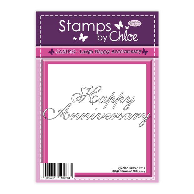 Stamps by Chloe Large Happy Anniversary Clear Stamp