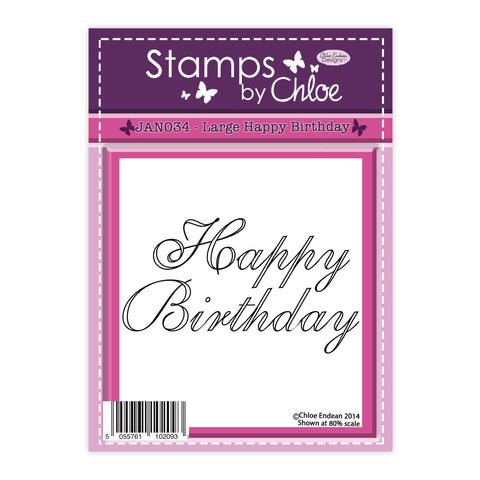 Stamps by Chloe Large Happy Birthday Clear Stamp
