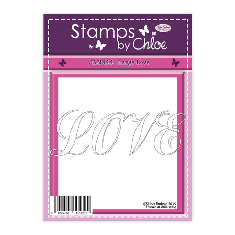 Stamps by Chloe Large Love Clear Stamp
