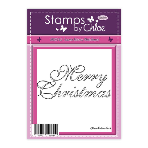 Stamps by Chloe Large Merry Christmas Clear Stamp
