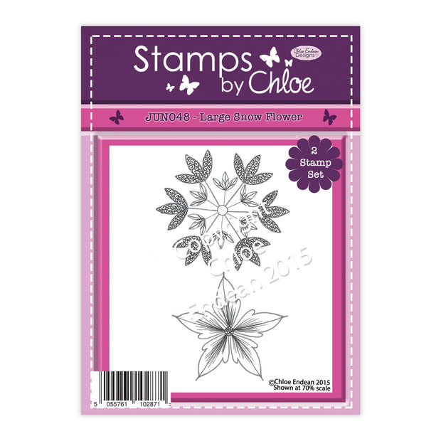 Stamps by Chloe Large Snow Flower Clear Stamp