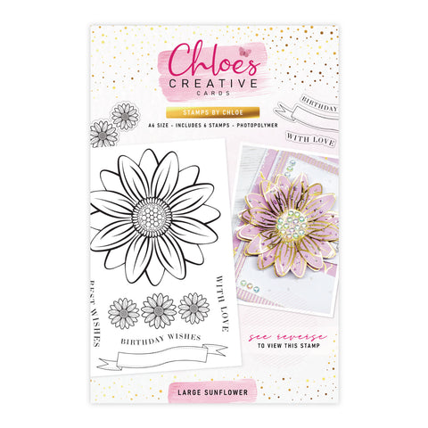 Stamps by Chloe Large Sunflower Clear Stamp Set