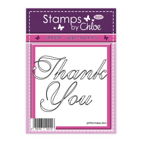 Stamps by Chloe Large Thank You Clear Stamp