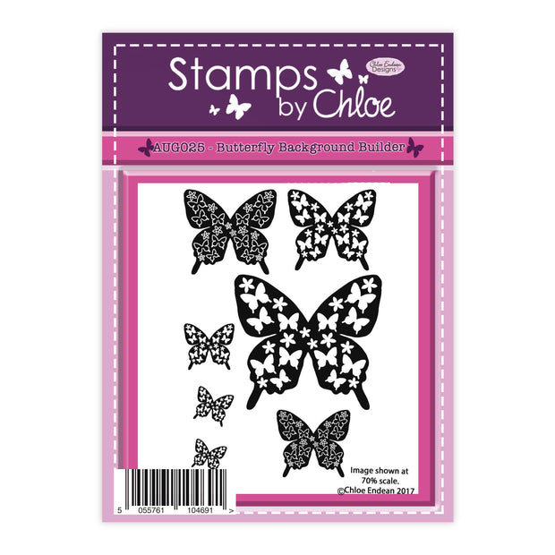 Stamps by Chloe Butterfly Background Builder Clear Stamp