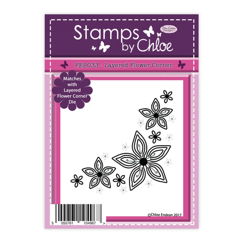 Stamps by Chloe Layered Flower Corner Clear Stamp