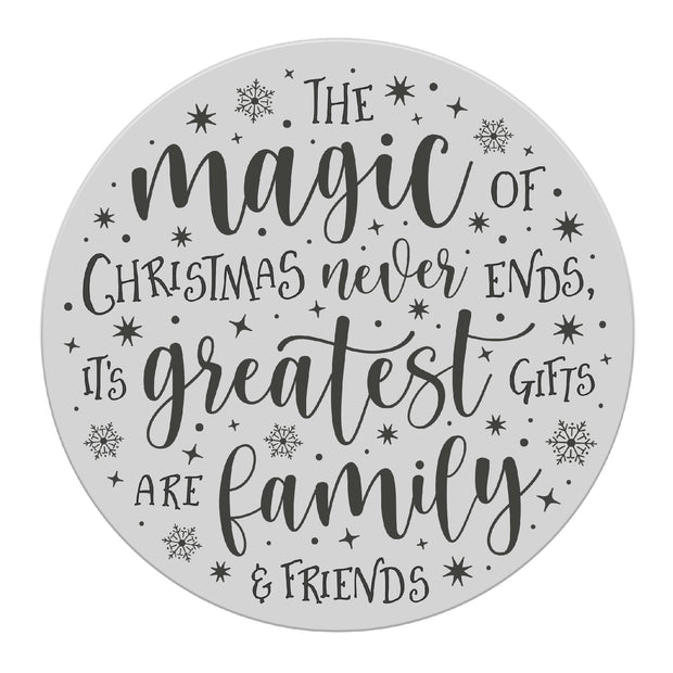 Chloes Creative Cards Photopolymer Stamp Set - Magic of Christmas Circle