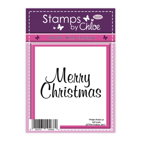 Stamps by Chloe Merry Christmas Clear Stamp