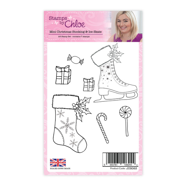 Stamps by Chloe Mini Christmas Stocking and Ice Skate Clear Stamp