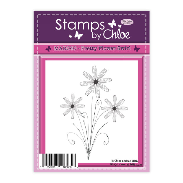 Stamps by Chloe Pretty Flower Swirl Clear Stamp