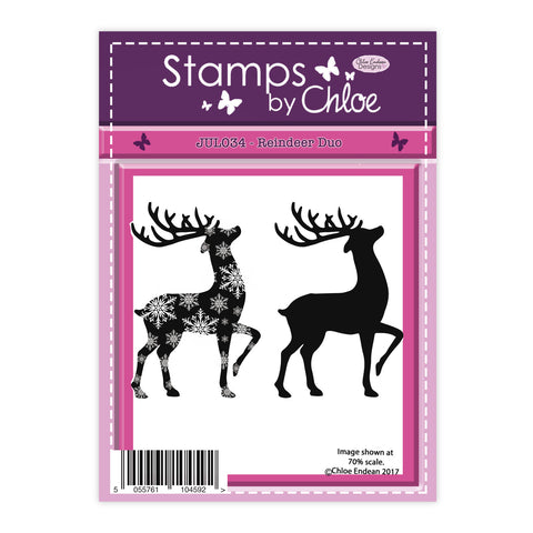 Stamps by Chloe Reindeer Duo Clear Stamp
