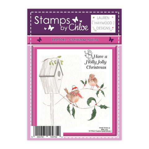 Stamps by Chloe Christmas Robins Clear Stamp