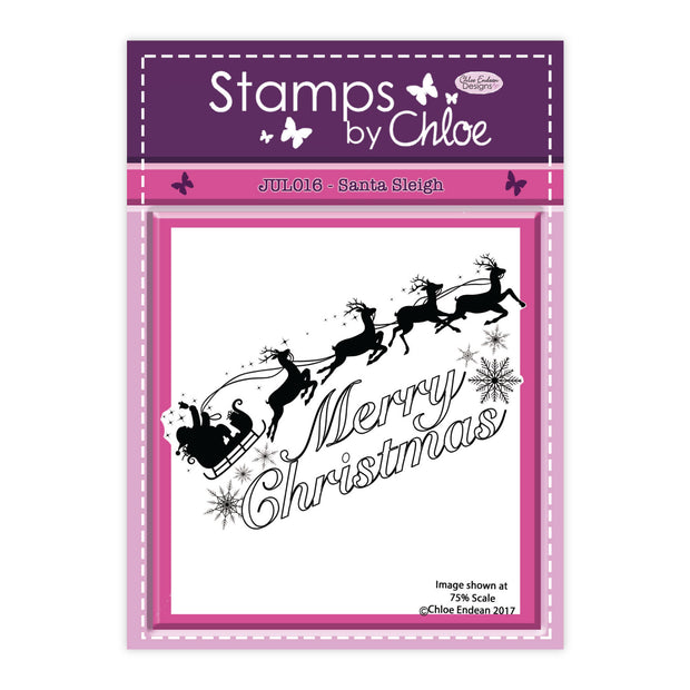 Stamps by Chloe Santa Sleigh Clear Stamp