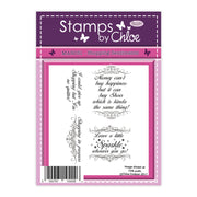 Stamps by Chloe Shopping Sentiments Clear Stamp