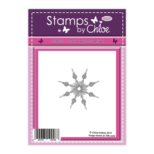 Stamps by Chloe Small Beaded Snowflake Clear Stamp