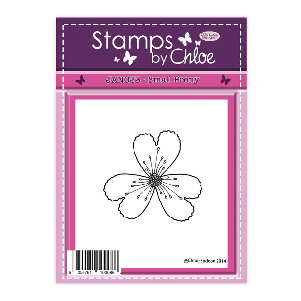 Stamps by Chloe Small Peony Clear Stamp