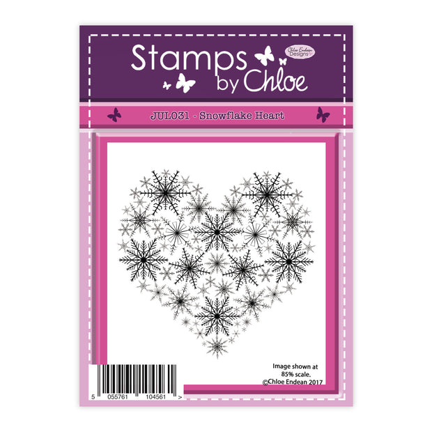 Stamps by Chloe Snowflake Heart Clear Stamp