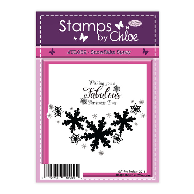 Stamps by Chloe Snowflake Spray Clear Stamp