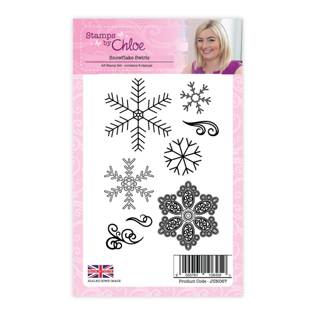 Stamps by Chloe Snowflake Swirls Clear Stamp