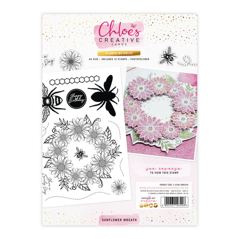 Stamps by Chloe Sunflower Wreath Clear Stamp Set