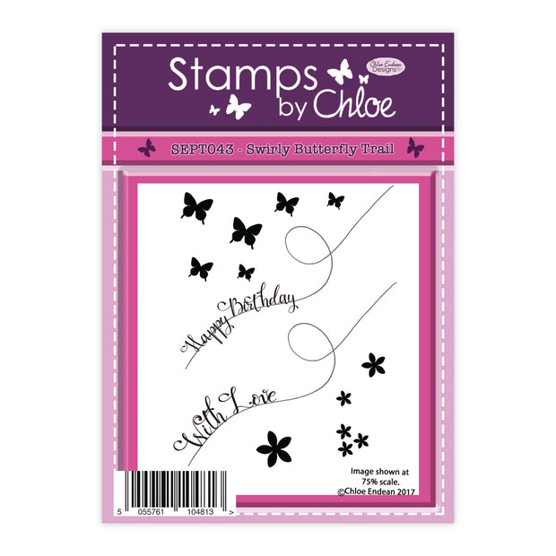 Stamps by Chloe Swirly Butterfly Trail Clear Stamp