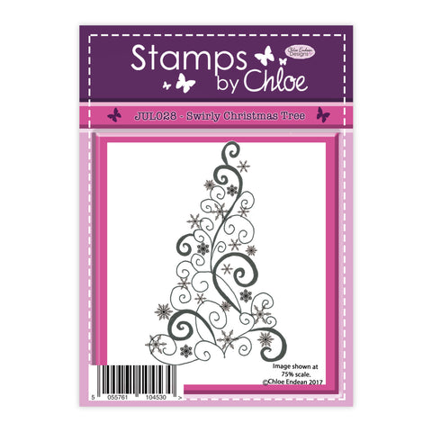 Stamps by Chloe Swirly Christmas Tree Clear Stamp