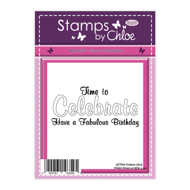 Stamps by Chloe Time to Celebrate Clear Stamp