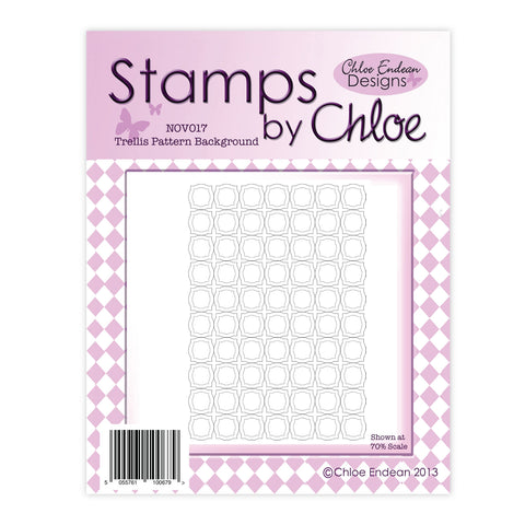 Stamps by Chloe Trellis Pattern Background Clear Stamp