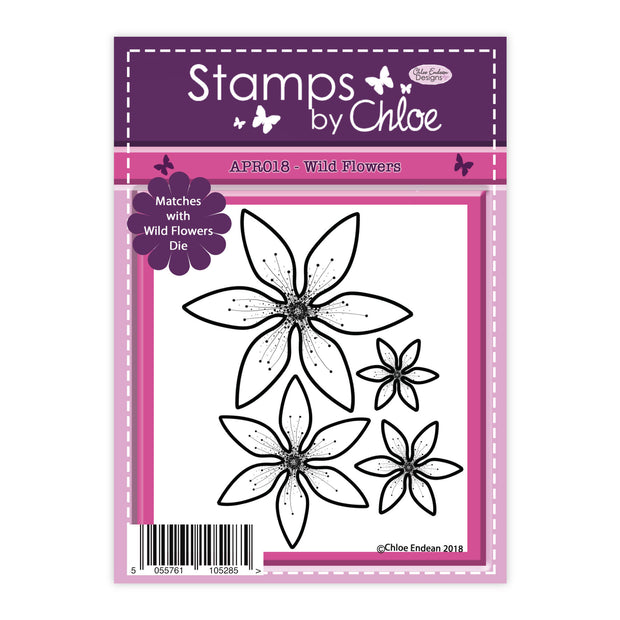 Stamps by Chloe Wild Flowers Clear Stamp