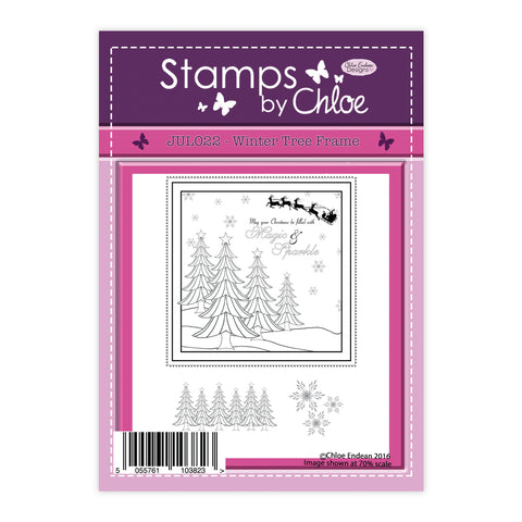 Stamps by Chloe Winter Tree Frame Clear Stamp