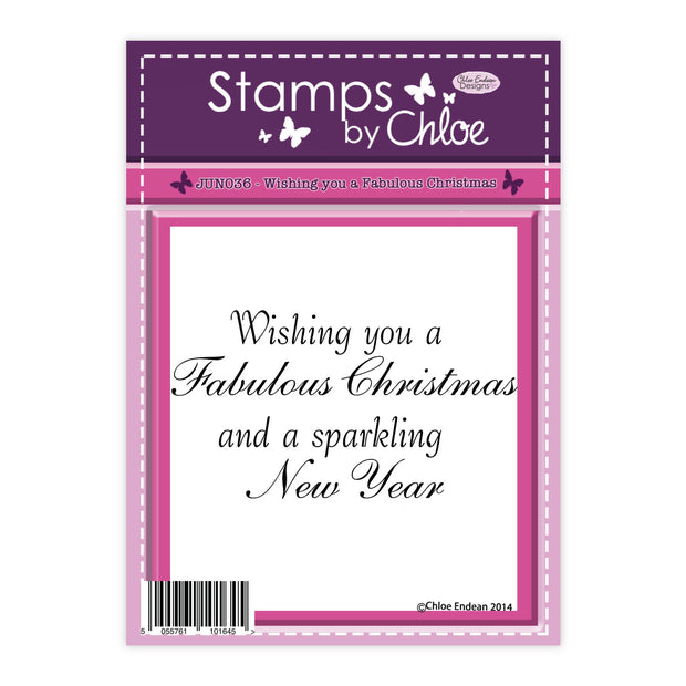 Stamps by Chloe Wishing you a Fabulous Christmas Clear Stamp