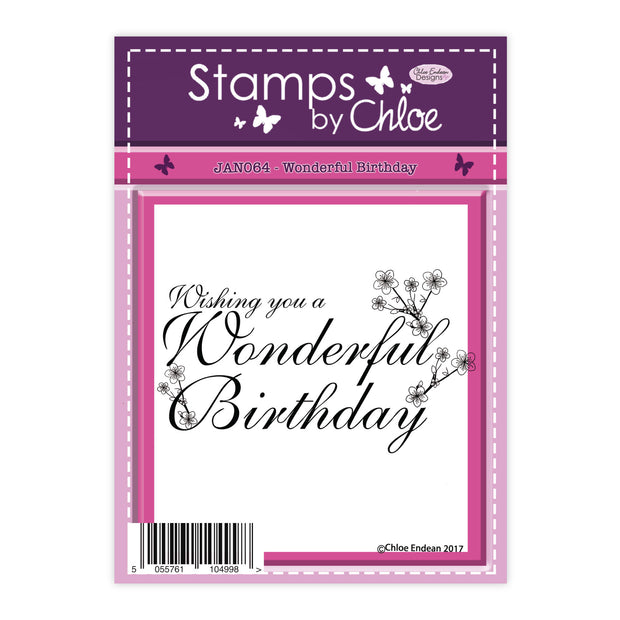 Stamps by Chloe Wonderful Birthday Clear Stamp