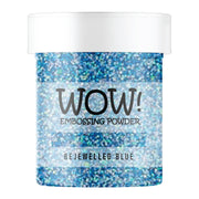 Stamps by Chloe WOW Embossing Glitter Bejewelled Blue Large Jar