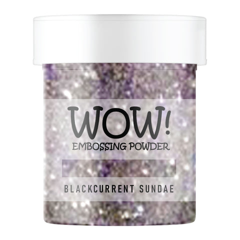 Stamps by Chloe WOW Embossing Glitter Blackcurrent Sundae Large Jar