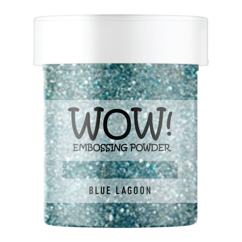 Stamps by Chloe WOW Embossing Glitter Blue Lagoon Large Jar
