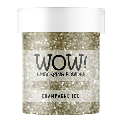 Stamps by Chloe WOW Embossing Glitter Champagne Ice Large Jar