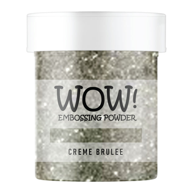 Stamps by Chloe WOW Embossing Glitter Creme Brulee Large Jar