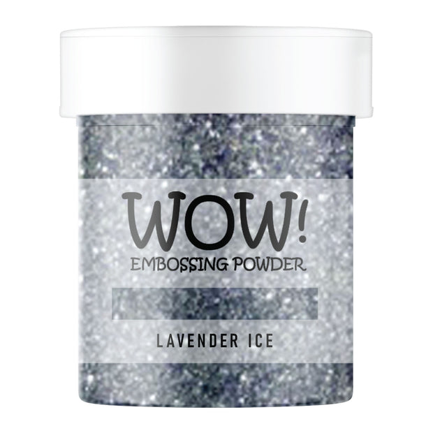 Stamps by Chloe WOW Embossing Glitter Lavender Ice Large Jar