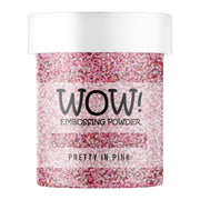 Stamps by Chloe WOW Embossing Glitter Pretty in Pink Large Jar