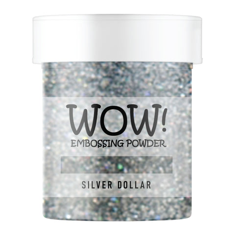 Stamps by Chloe WOW Embossing Glitter Silver Dollar Large Jar