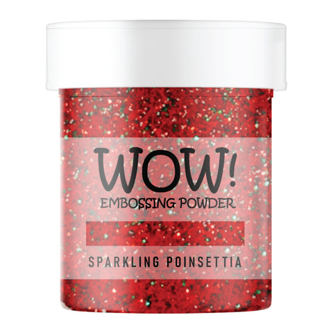 Stamps by Chloe WOW Embossing Glitter Sparkling Poinsettia Large Jar