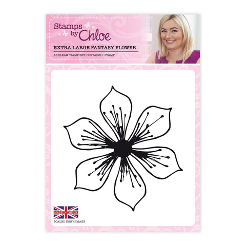 Stamps by Chloe Extra Large Fantasy Flower Clear Stamp