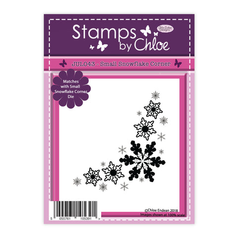 Stamps by Chloe Small Snowflake Corner Clear Stamp