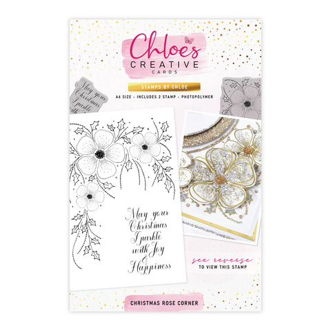 Stamps by Chloe Christmas Rose Corner Clear Stamp