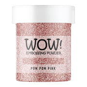 Stamps by Chloe WOW Embossing Glitter Pom Pom Pink
